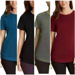 Danskin Women's Tunic Hem Short Sleeve Soft & Comfy #1442402