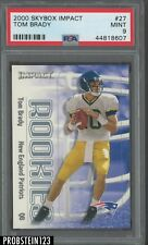 2000 Skybox Impact #27 Tom Brady New England Patriots RC Rookie PSA 9 MINT