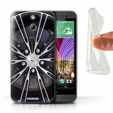 Étuis, housses et coques argentés en silicone, caoutchouc, gel pour téléphone mobile et assistant personnel (PDA) HTC