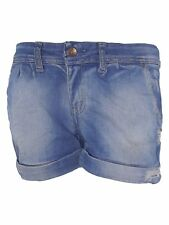 pois short jeans donna blu denim made italy taglia it 44 l large