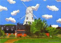 RYE WINDMILL EAST SUSSEX OPEN EDITION PRINT BY MICHAEL PRESTON