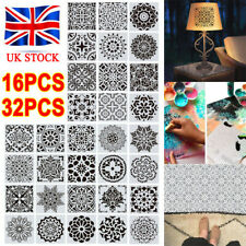 16/32 Pack Mandala Dot Painting Templates Stencils For DIY Rock Painting Art UK
