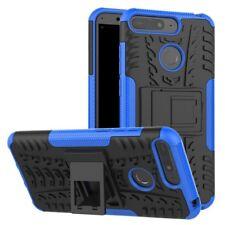 Für Huawei Y6 2018 Hybrid Case 2teilig Outdoor Blau Etui Tasche Hülle Cover Neu