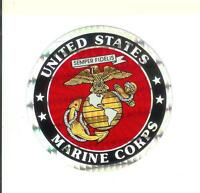 "United States Marines Corps 3"" Round Seal Sticker Decal Armed Forces Military"