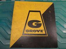 GROVE RT625 Crane PARTS Manual   GMC  06/1980