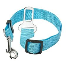3 Blue Dog Car Safety Belts Adjustable Safety Restraint Travel Harness Collars