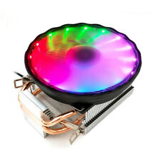 Universal Copper Ultra Quiet Colorful Light PC Computer Cooling Fan Cooler