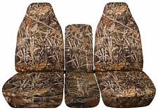 Duck Hunt Camouflage 40/20/40 Seat Covers for a 1993 to 1998 Ford F Series