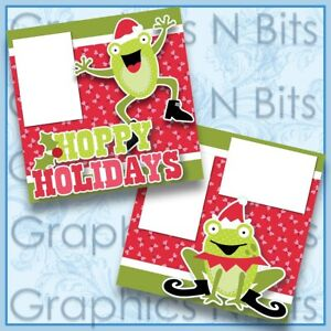 """HOPPY HOLIDAYS 12""""x12"""" Printed Premade Scrapbook Pages"""