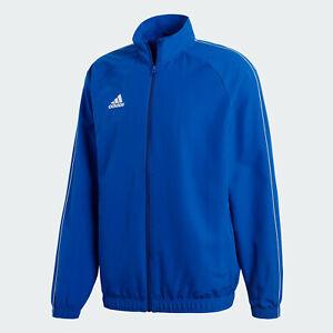 🔥 adidas Men's Soccer Core 18 Presentation Jacket Blue Medium NWT FAST SHIPPING
