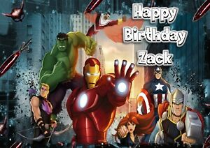 Personalised birthday card Marvel Avengers son grandson nephew brother 5th 7th