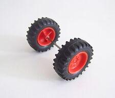 PLAYMOBIL (T4231) FERME - Roues Arrières Rouge & Noir Tracteur Vintage 3500 3554