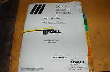 GRADALL L SERIES TELESCOPIC FORKLIFT Reach Truck Parts Manual book catalog list