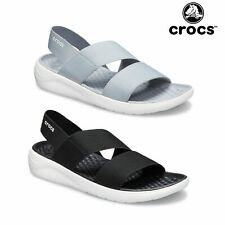 Crocs Womens Lite Ride Stretch Strappy Sandal Ladies Casual Foam Cushioned Shoes