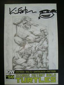 Teenage Mutant Ninja Turtles 50 Comic Art Gallery Variant Kevin Eastman signed