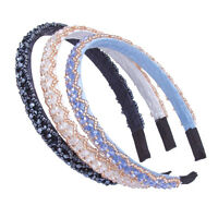 Fashion Women Crystal Rhinestone Headband Hairband Beaded Hair Hoop Accessories