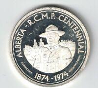 1974 EDMONTON ALBERTA RCMP CENTENNIAL KLONDIKE DAYS SILVER $1 TRADE DOLLAR