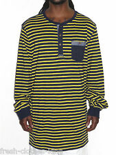 Sean John Sweater Shirt New $59.50 Navy Blue Stripe Henley Pull Over Size 3XL