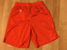Men's Boys Adult Small Authentic Warrior Orange lacrosse soccer shorts NEW