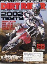 DIRT RIDER - September 2001 - 2002 Tests / Greg Albertyn / '02 Honda CR125R