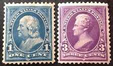 USA 1890 2 x Stamps mint hinged