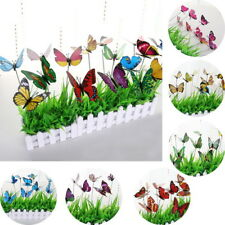 10PCs 3D Colourful Fake Butterfly Wall Art Home Rome Decor Artificial Flowers