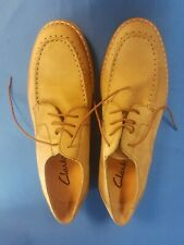 Clark's Man's Nubuck Beig Casual Lace Up Shoes Size 10