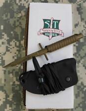 Shadow Tech STSTTPCY Tan Stinger Neck Knife Coyote Cord Wrap Kydex Sheath NEW