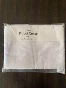 Brooklinen Luxe Duvet Cover Full/Quenn Solid White Brand New