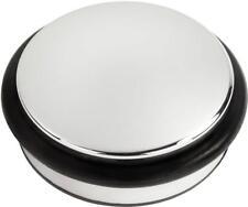 Andrew James Chrome Door Stop Round Heavy Duty Stopper Floor Rubber Weight 1.2KG