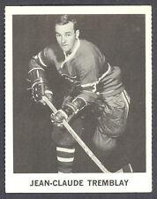 1965 COCA-COLA COKE  J. C. TREMBLAY MONTREAL CANADIENS HOCKEY CARD