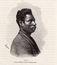 CABINDA CONGO GABON IMAGE 1888 PRINT