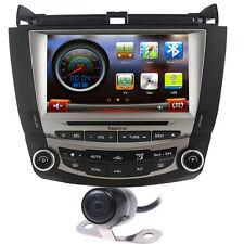 Camera+Map Autoradio DVD GPS Stereo Navigation Satnav for Honda Accord 2003-2007