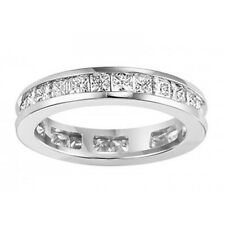 3.00 ct Princess Cut Diamond Eternity Wedding Band Ring  14 Kt White Gold