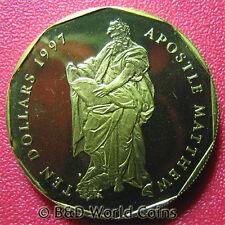 1997 MARSHALL ISLANDS $10 APOSTLE MATTHEW BRASS BU CHRISTIANITY COIN 34.5mm