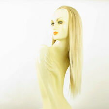 Demi-tête, demi-perruque 60cm blond doré méché blond très clair 014 en 24bt613