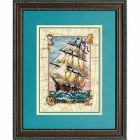 Dimensions - Counted Gold Cross Stitch Kit - Voyage at Sea - D06847