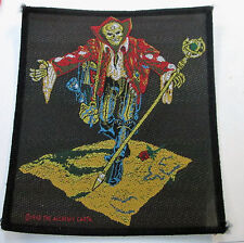 ALCHEMY COLLECTABLE RARE PATCH ENGLISH WOVEN  METAL SKULL COLLECTION REAPER