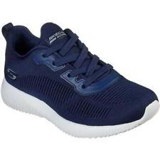 Skechers Bobs Squad Tough Talk Womens Ladies Blue Trainers Shoes Size 4-8