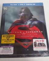 Blu-Ray DVD Batman V Superman Dawn Of Justice Ultimate Edition NEW, 64-page book