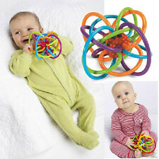 Baby Loud Bell Ball toy rattles Develop Intelligence Plastic Hand Bell Rattle CT