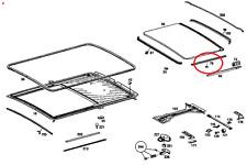 Schiebedach Dichtung seitlich Dachfiltz Mercedes 15 MM auch 123 und 126 Coupe.