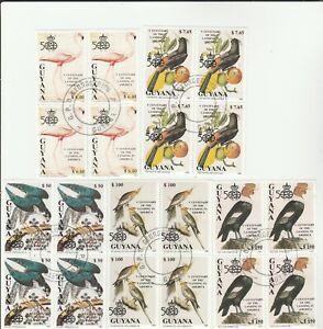 4er Block Bird Guyana Postmarked 92 High Katalogwert