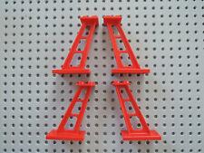 Lego 4 x Säule 1x1x5 alt hellgrau Stütze Pfeiler 2453 Noppe oben offen