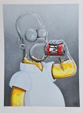FLOG Homer print SIGNEE + sticker banksy shepard fairey jonone martin whatson