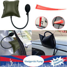 Car Auto Door Out Emergency Open Inflatable Hand Green Air Pump+Plastic Wedge