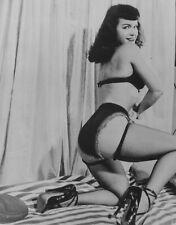 Pin-Up Icon Bettie Page Original Irving Klaw 4x5 Black & White Internegative