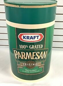 """Kraft Parmesan Cheese canister Store Display 20"""" tall RARE!"""