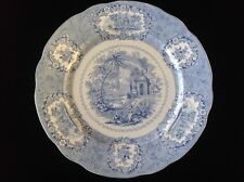 Oriental Ridgway Antique Dinner Plate England Blue and White Transferware 10""