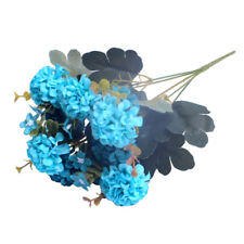 1 Bunch 10 Heads Artificial Hydrangea Silk Flower Home Wedding Garden Decor US